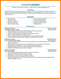 Warehouse Resume 100 Resume For Warehouse Letter Setup 51