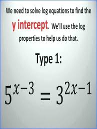 exponential and logarithmic equations solving exponential and logarithmic equations using ti math for grade