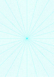 Polar Graph Paper With 15 Degree Angles And 1 8 Inch Radials