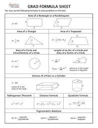 8 Grade Math Formula Chart Act Math Formula Sheet Lamasa Jasonkellyphoto Co