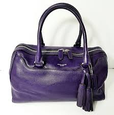 COACH Legacy PURPLE Haley Satchel Bag 23574
