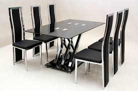 incredible dining table 6 chairs round glass dining table and 6 chairs ciov