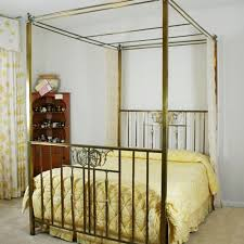 Antique Four Poster Canopy Brass Bed : EBTH