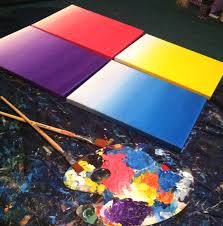 diy how to paint an ombre canvas painting