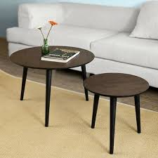 so 2 pieces nesting tables round wooden side table coffee table fbt40 br uk eur 289 61 pic fr