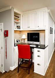 elegant home office design small. officecool small home office with white cornered desk feat wall shelves and red chair elegant design l
