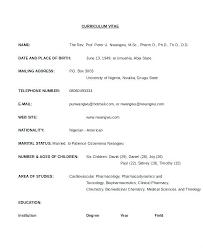 Format Resume Pharmacist Template Curriculum Vitae Cv Europas Model