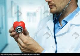 Red Checking Stock Photo 22838191 Cardiologist Checking Red Heart With Stethoscope Cardiology