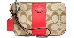 Lyst - Coach Legacy Signature Small Wristlet in Red