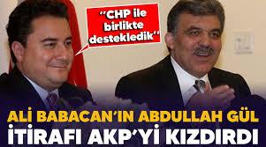 Yeni Mesaj: Ali Babacan'ın Abdullah Gül itirafı AKP'yi kızdırdı