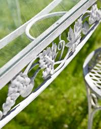 white wrought iron furniture. white wrought iron detail furniture i