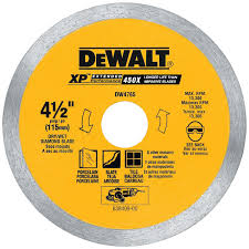 tile saw blades do not have sharp teeth that rip and tear in order to cut through the material instead they actually grind through the tile