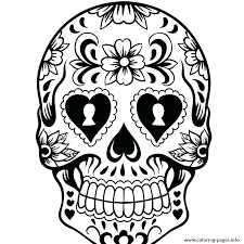 Printable Sugar Skull Coloring Pages Printable Sugar Skull Coloring