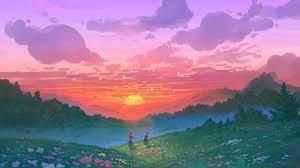 340171 Digital Art, Sunset, Sky, Couple ...