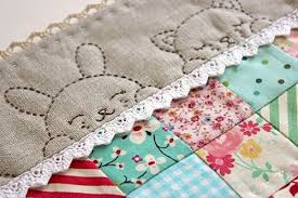1000+ images about Hand quilting on Pinterest | Stitching ... & such a cute ide for the border of baby quilt....makes me Adamdwight.com
