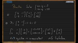 system of equations lesson 10 2x2 inverse matrix ismail academy
