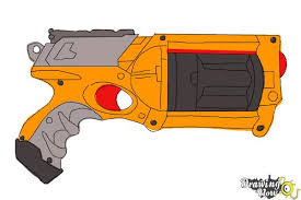 Small Picture How to Draw a Nerf Gun DrawingNow