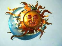 sun moon face wall art