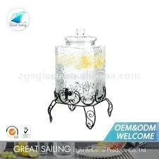 large glass drink dispenser large square glass drink dispenser with metal stand glass beverage dispenser with
