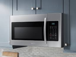 Microwave Wattage Chart 1 6 Cu Ft Over The Range Microwave In Fingerprint Resistant Stainless Steel