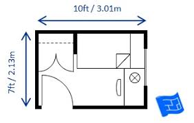Bedroom Size For Twin/single Bed Sized To Code 7 X 10 ...
