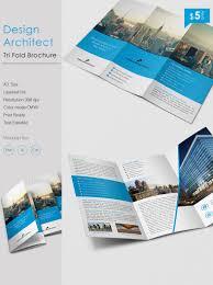 Stunning Design Architect A3 Tri Fold Brochure Template Free