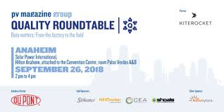 what quality roundtable at solar power international 2018