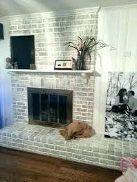 reface brick fireplace refinish painted modern rustic fireplaces ideas paint same with stucco