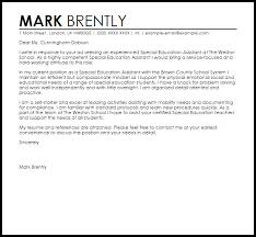 Spe Photographic Gallery Cover Letter Examples For Teacher Assistant