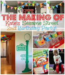 Sesame Street Bedroom Decorations The Making Of Kates Sesame Street Birthday Party