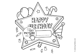 Happy Birthday Printable Star Coloring Pages For Kids Coloing