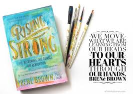 she took bren brown s words about creativity to heart and the book jacket on brene brown wall art with bren brown s rising strong meets paint