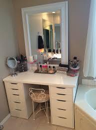 Makeup Vanity For Bedroom Cheerful Makeup Vanity On Pinterest Organize Make Up Makeup Drawer