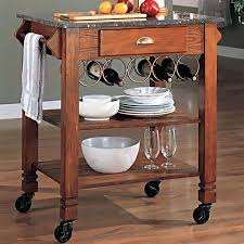 Kitchen Island Cart With Granite Top Crosley Granite Top Portable