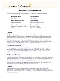 Our fillable contracts and contract templates are forms that business owners can fill out to generate a legal document that. Brand Ambassador Contract Template Pdf Templates Jotform