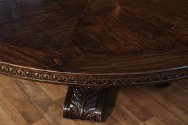 extra large solid oak table with carved a and base available with matching lazy susan