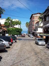 blue chair puerto vallarta. Hotel Mercurio Street To Puerto Vallarta Beach Blue Chair