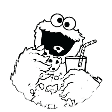 Images Of Cookie Monster Coloring Pages Cookie Monster Coloring