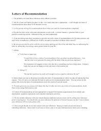 Letter Of Personal Recommendation Free Resumes Tips