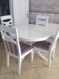 ikea ingatorp white extendable table and 6 chairs