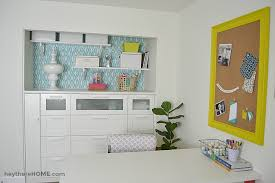 hey home office overhalul. We Finally Have An Organized And Creative Shared Office Space Craft Room! Hey Home Overhalul
