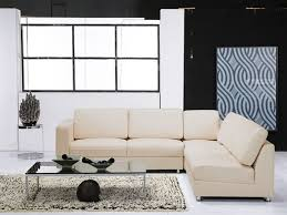 italian leather sectional in cream color