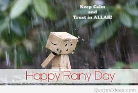 happy rainy day message quote funny picture