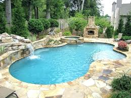 Rock Waterfalls For Inground Pools Pool With Waterfall Swimming Pool