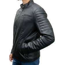 men s faux leather biker slim fit jacket zoom men s