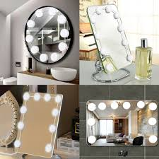 Light Up Makeup Vanity Hollywood Style Led Makeup Vanity Mirror Lights Kit With