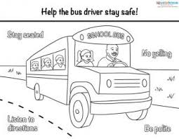 Small Picture Bus Safety Printables
