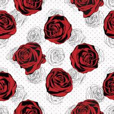 Rose Pattern Amazing Red Rose Pattern Fabric Kalou Spoonflower