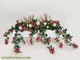 outdoor artificial mixed flower vines for window boxes lavender fuchsia