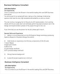 business intelligence consultant job description business intelligence consultant job description